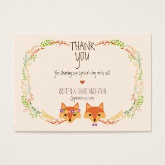 Wunderliches Waldland Foxes (Elfenbein-) Visitenkarte