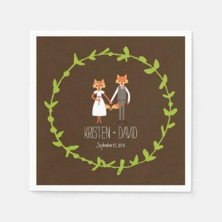 Wunderliches Waldland Foxes Hochzeit Servietten