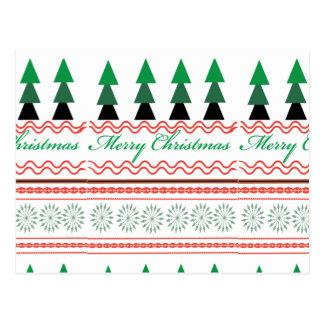 Wunderliches Weihnachtsgeometrische Muster Postkarte