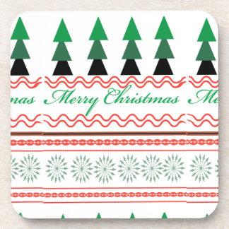 Wunderliches Weihnachtsgeometrische Muster Untersetzer