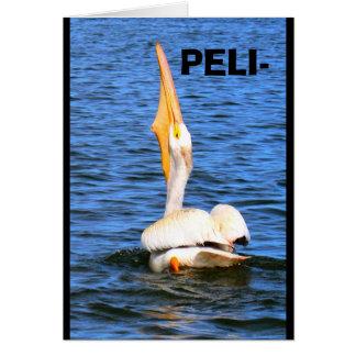 Wunsch des Pelikan-I Sie alles Gute zum Karte
