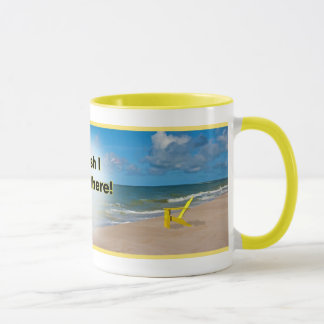 Wunsch I war dort Strand-Tasse Tasse