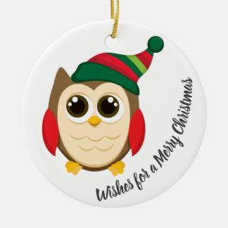 Wünsche für frohen Weihnachten - Verzierung mit Keramik Ornament
