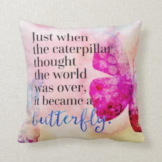 Wurde ein Schmetterlings-Zitat Kissen