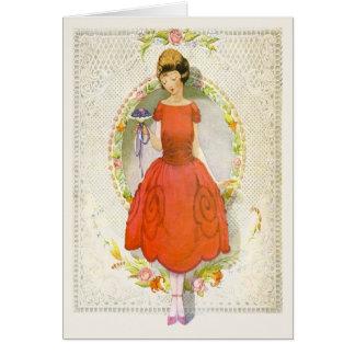 Würden Sie unser Blumen-Mädchen-Vintager Antrag Karte