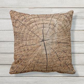 Wurf Kissen-Holz Beschaffenheit im Freien Kissen Für Draußen