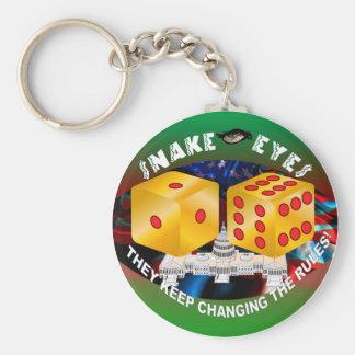 Würfel-ändernde Regeln 1R Standard Runder Schlüsselanhänger