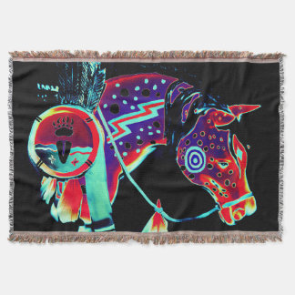 "Wurfs-Decke mit ""malte Pony"" Entwurf Decke"