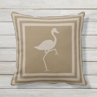 Wurfs-Kissen-Flamingo im Freiengeometrisches Kissen Für Draußen
