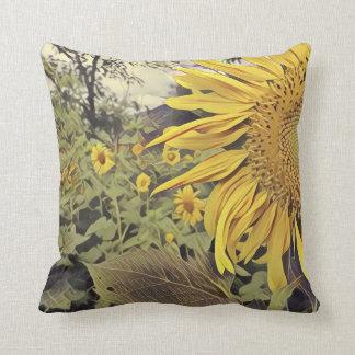 Wurfskissen mit Sonnenblumeentwurf Kissen