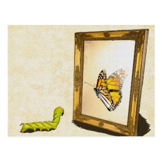 Wurm und der Spiegel! Postkarte