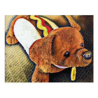 Würstchen-Hundepostkarten Postkarte