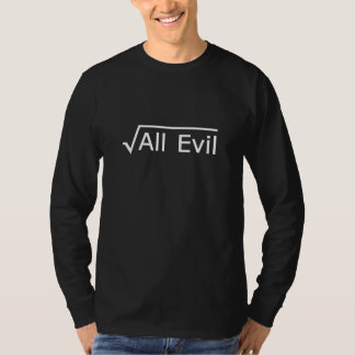 Wurzel alles Übels - lustiger Mathe-Ausdruck T-Shirt