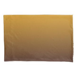 Würziges Gold Brown Ombre Kissenbezug