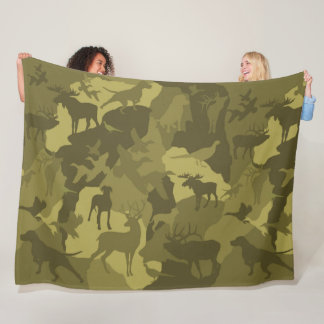 Wüste Cammo/camoflauge/deer/phesant/moose/elk/dog Fleecedecke