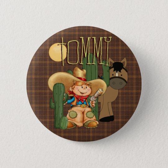 Wüsten-Cowboy Runder Button 5,7 Cm