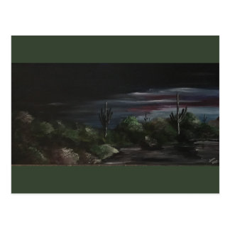 Wüsten-Dämmerungs-Postkarte Postkarte