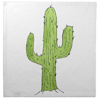 Wüsten-Kaktus-Entwurf Stoffserviette