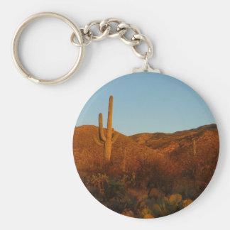 Wüsten-Landschaft des Saguaro-Sonnenuntergang-I Schlüsselanhänger