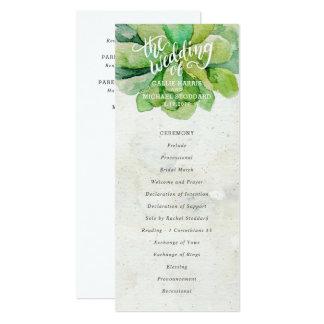Wüsten-saftiges Hochzeits-Programm - Stein Karte
