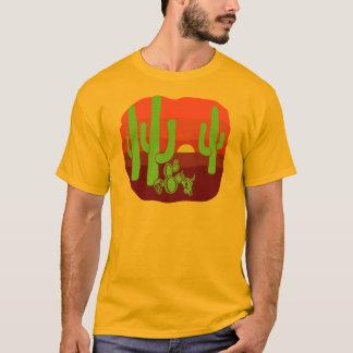 Wüsten-Schädel-Kaktus-Sonnenuntergang T-Shirt
