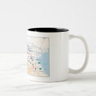 Wüsten-Sturm-Überlagerungs-Tasse Zweifarbige Tasse
