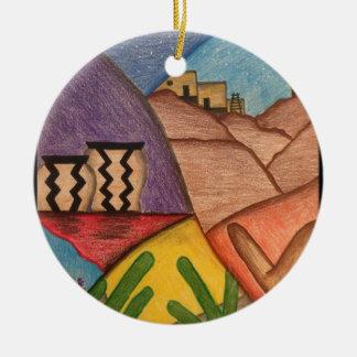 Wüsten-Tanz Rundes Keramik Ornament