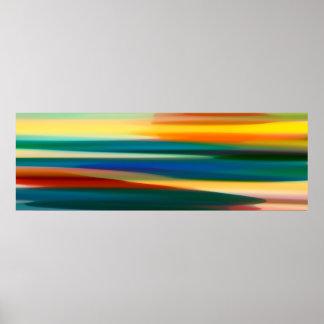 Wut-Meerblick panoramisch Poster