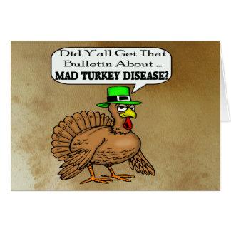 Wütende die Türkei-Krankheits-Erntedank-Karte Grußkarte
