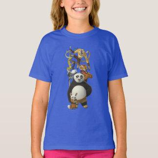 Wütende fünf gestapelt T-Shirt