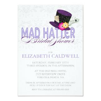 Wütende Hutmacher-Brautparty-Einladung 12,7 X 17,8 Cm Einladungskarte