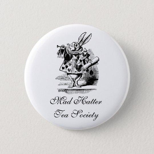 Wütende Hutmacher-Tee-Gesellschaft Runder Button 5,7 Cm