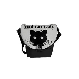 """""""Wütende Minibote Tasche Katzen-Damen-"""" Kuriertasche"""