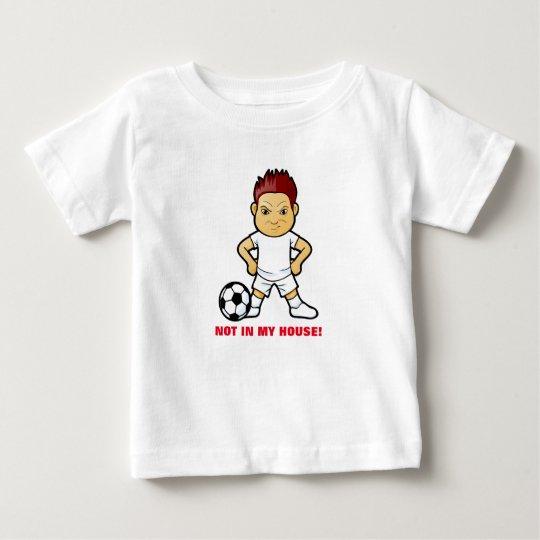 Wütender Fußball-Spieler auf Baby-T - Shirt