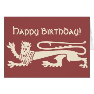 Wütender glücklicher Löwe Augustus Pugin CC0990 Karte