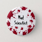 Wütender Wissenschaftler Halloweens Runder Button 5,7 Cm