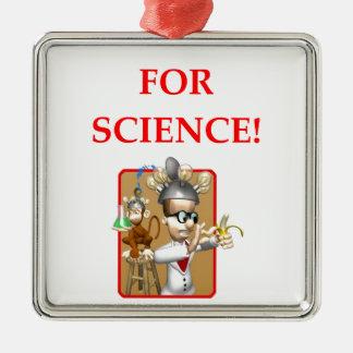 wütender Wissenschaftler Silbernes Ornament