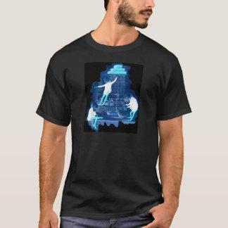 Wütender Wissenschaftler-Skelett-Röntgenstrahl T-Shirt