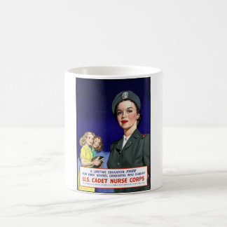 WW2 -- US-Schwesternschülerin-Korps Kaffeetasse