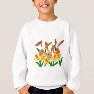 WW-, Häschen-und Narzissen-Kunst Sweatshirt