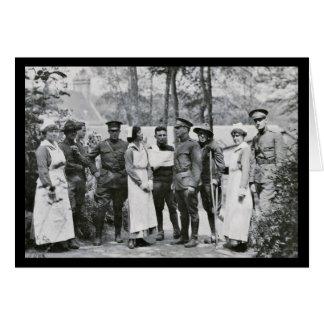 WWI Krankenschwestern und Doktoren Karte