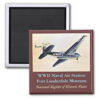 WWII Flugzeuge Quadratischer Magnet