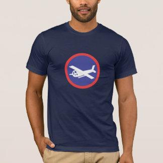 WWII Segelflugzeug-Kappen-Flecken-T - Shirts