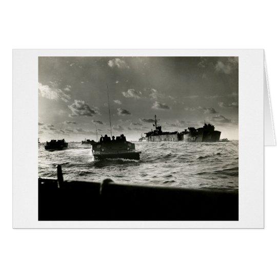 WWII US Marineangriff Iwojima Grußkarte