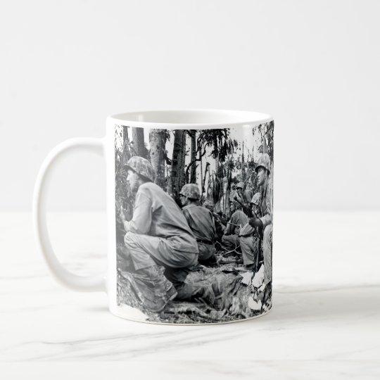 WWII US Marinesoldaten auf Peleliu Kaffeetasse