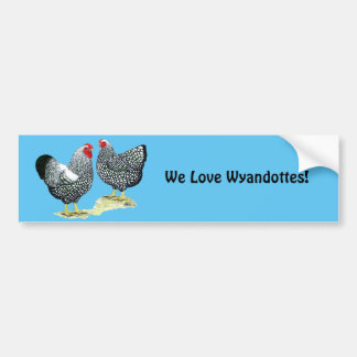 Wyandottes schnürte sich Paare Autoaufkleber