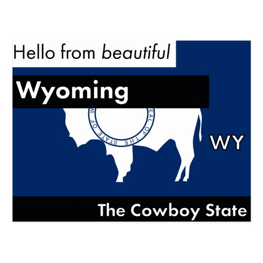 Wyoming der Cowboy-Staat Postkarte