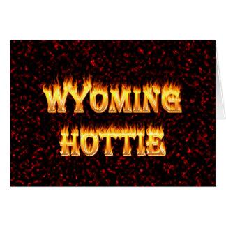 Wyoming hottie Feuer und Flammen entwerfen Rot Karte