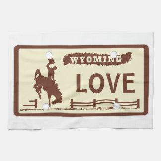 Wyoming-Kfz-Kennzeichen Küchenhandtücher