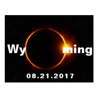 Wyoming-Sonnenfinsternis Postkarte